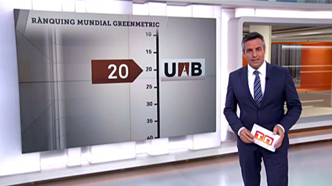 TV3: La UAB encabeza las universidades del Estado en el ranking mundial GreenMetric