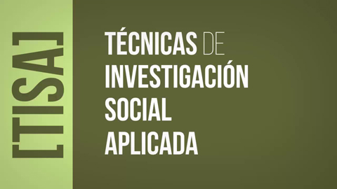 Master's Degree in Applied Social Research Techniques (TISA)