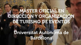 Official Master's Degree in Management and Organisation of Event Tourism